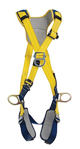 Navy//Yellow Capital Safety Small 3M DeltaComfort 1100885 Fall Arrest Kit with Back//Front//Side D-Rings Quick Connect Buckle Leg//Chest Straps and Comfort Padding