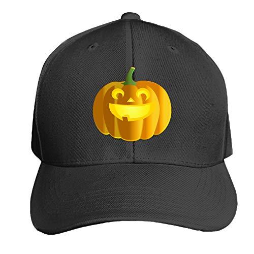 Jack O Lantern Pumpkin Halloween Carved Carving Unisex Washed Twill Baseball Cap Adjustable Peaked Sandwich Hat]()