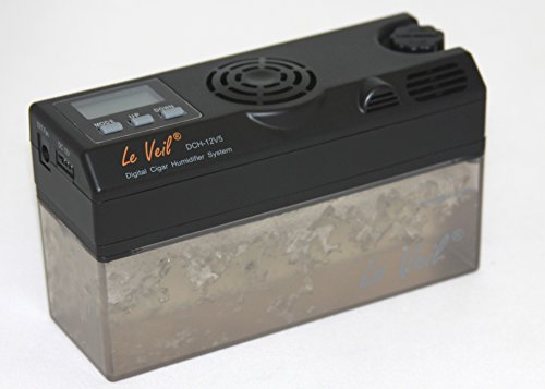 Le Veil DCH-12V5 Digital Cigar Humidifier W/extra Tank + Bluetooth Adapter by Le Veil