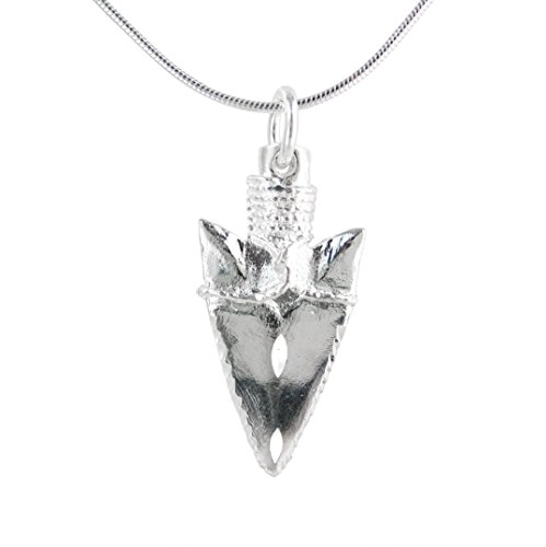 Sterling Silver Native American-style Arrowhead Necklace