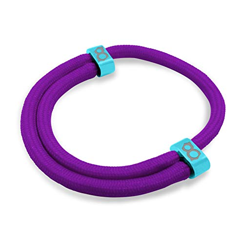 Steel Womens Charm - st8te - Adjustable Rope Bracelets for Men & Women. Charm Bracelets with Several Color Finishes. Fit Stainless Steel Thin Bracelets (Purple Teal)
