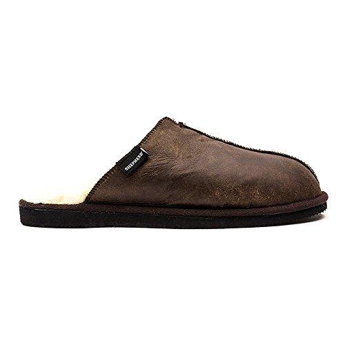 Shepherd Hugo, Men's Open Back Slippers oiled antique