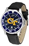 Georgia Tech Yellow Jackets Competitor AnoChrome Men's Watch with Nylon/Leather Band and Colored Bezel