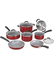 Cuisinart 54C-11R Advantage Ceramica XT Cookware Set, Medium, Red
