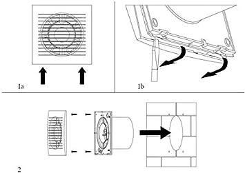 Vents Ventilador de pared para ba/ño di/ámetro de 100 mm