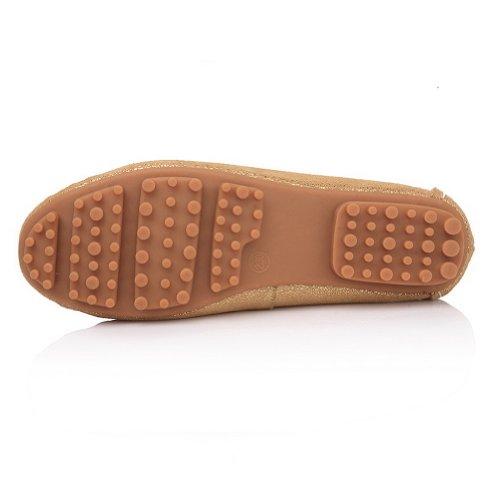 Voguezone009 Dames Loisirs Fermés Toe Mocassins Chaussures Avec Métal Clou Dor
