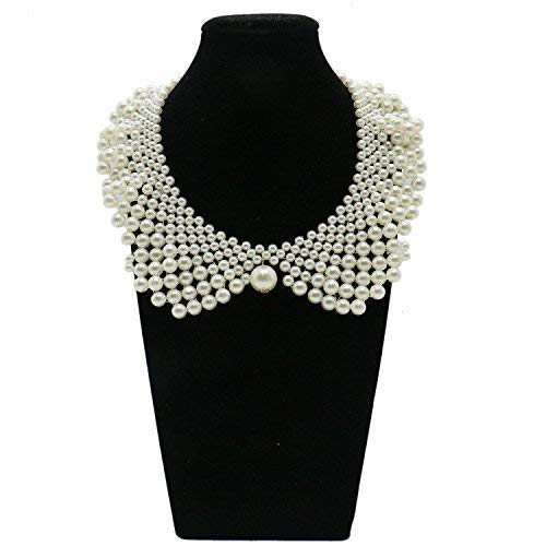 IDS False Collar Necklaces Romantic Necklaces with Artificial Pearl for Women Clothing DIY Craft Supply ()