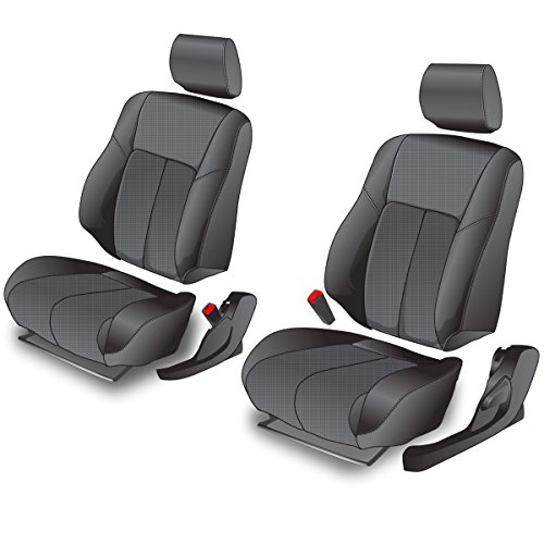 Best of Clazzio 400011blk Black Leather Front Row Seat Cover for Nissan 350Z