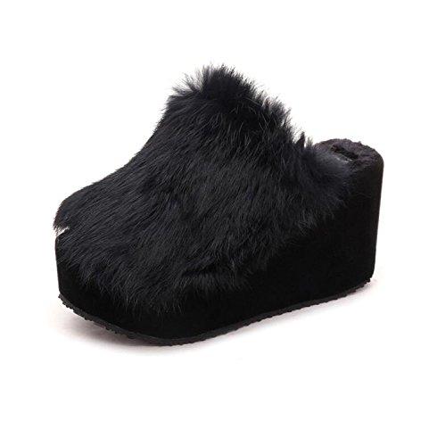 Abierto Zapatillas Zapato Zapatillas Libre Dedo Otoño Gris DANDANJIE Gris Aire Zapatos Negro caseros al de de Mujer y cuña de Chanclas Invierno Rojo dqYz4n