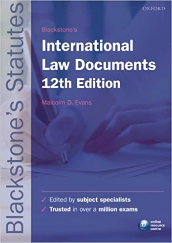 Blackstone S International Law Documents Blackstone S Statute Series