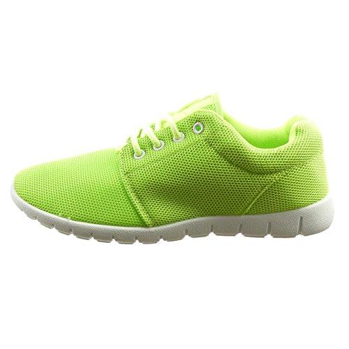 Sopily - Scarpe da Moda Sneaker alla caviglia donna Tacco a blocco 2.5 CM - Verde