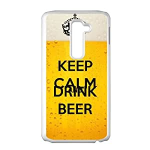 Keep Calm Drink Beer LG G2 Cell Phone Case White S5589304