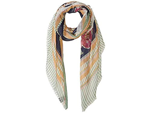(Vince Camuto Women's Linear Floral Wrap, Pink, One Size)