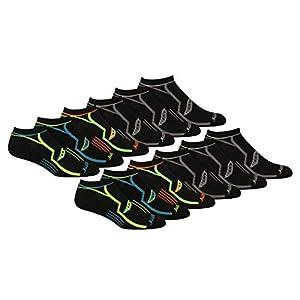 Saucony Men's Multi-Pack Performance Comfort Fit No-Show Socks