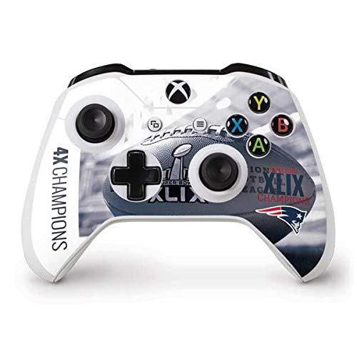 Skinit New England Patriots Super Bowl Champs Xbox One S Controller Skin - Officially Licensed NFL Gaming Decal - Ultra Thin, Lightweight Vinyl Decal Protection -