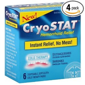 Cryostat Hemorrhoid Relief Cold Therapy Packs (Pack of 4) by CryoStat