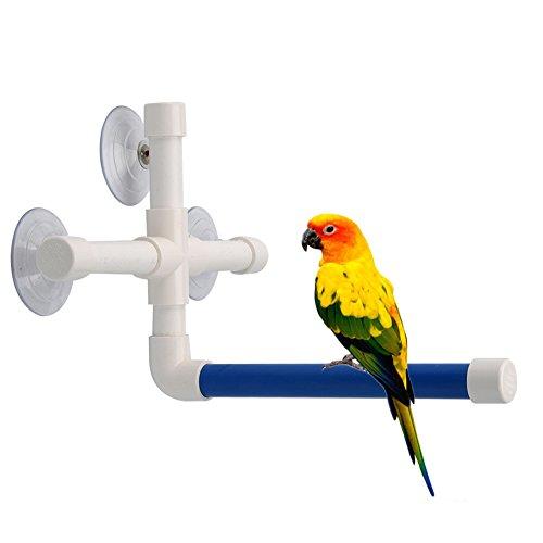 Bird Shower Perch - Bird Bath Perch Suction Cup Shower Perch Stand for Bird Parrot Macaw African Greys Budgies Cockatoo Parakeet Cockatiel Conure Lovebirds Shower Bath Perch Stand Toy