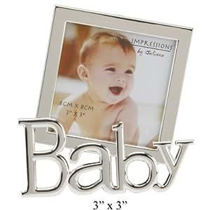 El dulce bebé marco de fotos/fotos - chapado en plata