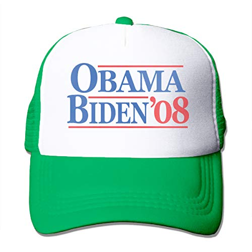 Obama Biden 08 Adult Men's Sling All-Star Adjustable Hat Sun Hat Green ()
