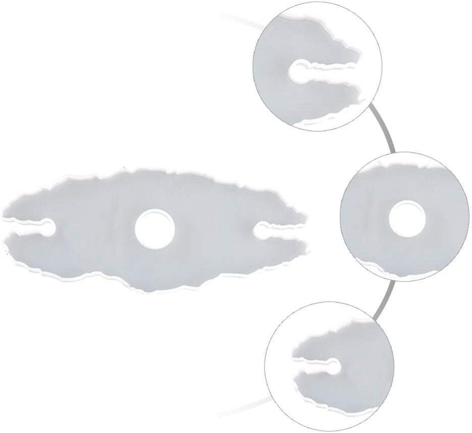 Fydun Moldes de Resina de Silicona de Posavasos de 4 Piezas Molde de Soporte de Copa de Vino moldes de fundici/ón de Resina epoxi DIY moldes de Resina art/ística para tazones de Cuenco esteras