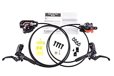 JGbike Shimano XT M8000 brake set,Hydraulic MTB Disk Brakes,Resin pad with ice tech FIN,Free MI-02(Right) clamp adapter integrator for match marker shifter