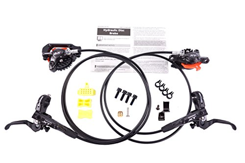 JGbike Shimano XT M8000 Brakes Set,MTB Hydraulic disc Brake Set, Including FIN, Resin Pads, MI-02 Adapter, Front Hose 1000mm, Rear Hose 1600mm - Rear Disc Hydraulic Brake