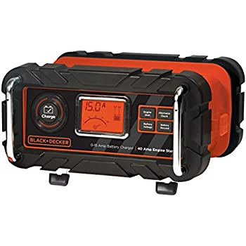 BLACK+DECKER BC15BD 15 Amp Bench Battery Charger with 40 Amp Engine Start