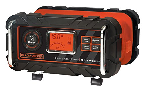 BLACK+DECKER BC15BD 15 Amp Bench Battery Charger 40 Amp Engine Start Alternator Check