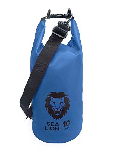 Adventure Lion Dry Bag with Shoulder Strap (Blue)