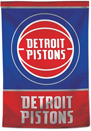 Detroit Flag Pistons - NBA Detroit Pistons Vertical Flag 28x40 inches, 1 Sided