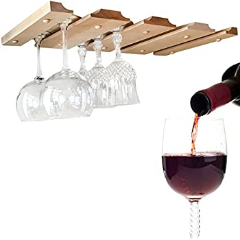 Unique Amazon.com: Wine Glass Rack - Under Cabinet, Counter, Bar or Shelf  LE23
