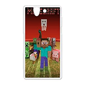 sandbox indie game Minecraft Case cver shell for Sony Xperia Z