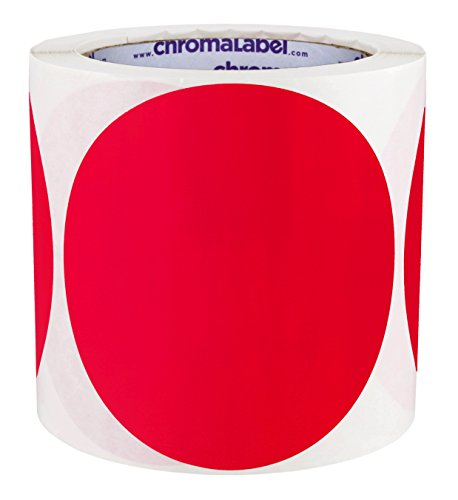 ChromaLabel 4 inch Color-Code Dot Labels | 250/Roll (Red)