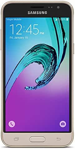 Samsung Galaxy J3 (2016) - No Contract Phone - Gold - (Virgin Mobile)