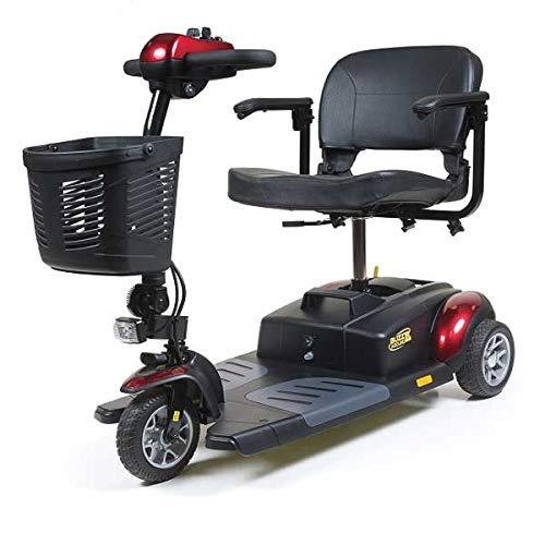 Golden Technologies Buzzaround XL 3 Wheel Power Scooter - GB117 with Free Accessories, Red