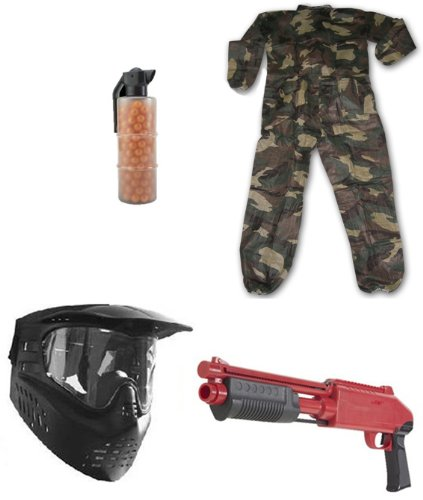 JT Splatmaster Z200 Shotgun Set With Large Paintball Coveralls