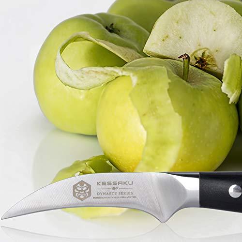 Kessaku Bird's Beak Paring Knife - Dynasty Series - German HC Steel, G10 Full Tang Handle, 3-Inch by Kessaku (Image #3)