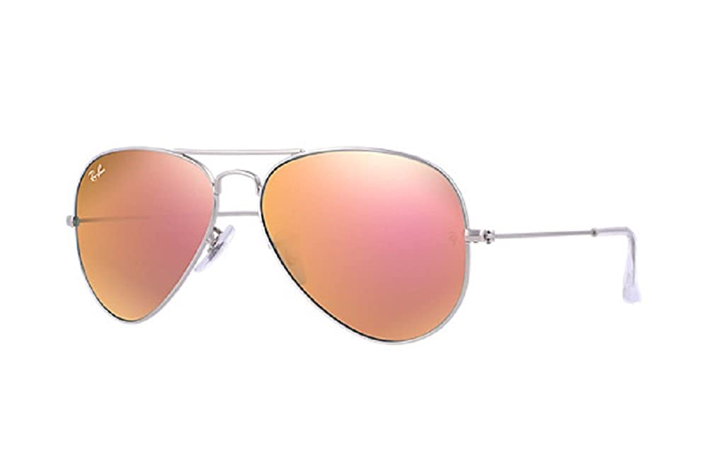 e84d0a902667a1 Amazon.com  Ray Ban Aviator Matter Silver Metal Frame with Copper Flash  Lenses - RB3025 019 Z2  Shoes