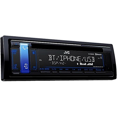 JVC KD-R888BT CD Receiver featuring Bluetooth / USB / AUX Input / Pandora / iHeartRadio / FLAC / 13-Band EQ / JVC Remote App Compatibility