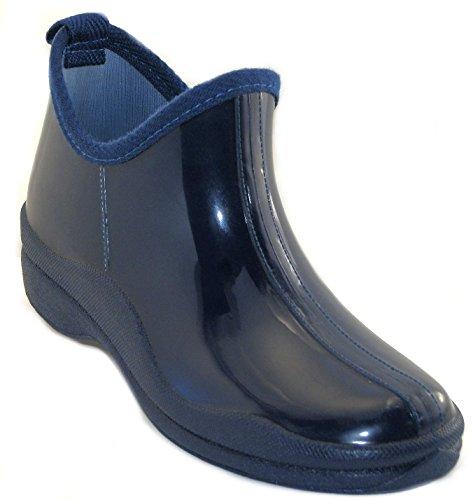 Sh18es Shoes8teen Kvinners Korte Regnstøvler Utskrifter Og Faste Stoffer 1118 Marineblå