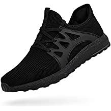 QANSI Men's Sneakers Mesh Ultra Lightweight Breathable Athletic Running Walking Gym Shoes