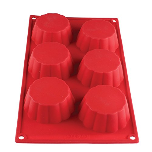 Commercial Strength Silicone Baking Molds FDA Food Safe Dishwasher, Microwave, Freezer Safe (Silicone Brioche Mold)