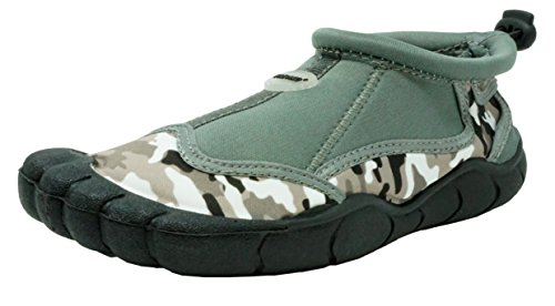 Fresko Kids Camo Water Shoes for Boys, B2018, Grey, 13 M US Little Kid - Kid Creature Socks