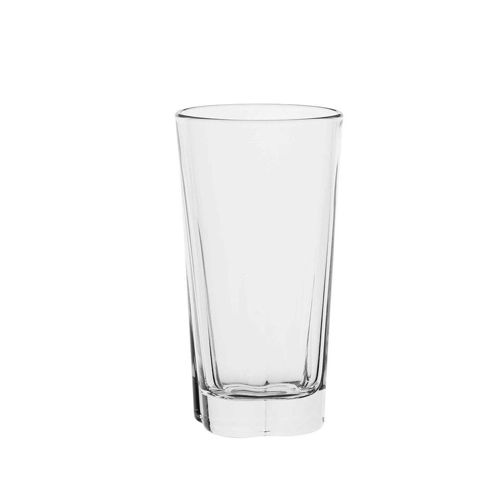 AmazonCommercial Highball Drinking Glasses, Barware Glass Tumbler, 11.5 oz., Set of 6