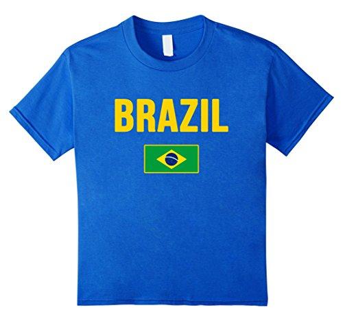 Kids Brazil T-shirt Brazilian Flag 8 Royal Blue
