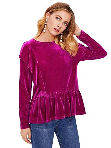 Purple Velvet Blouse - 1