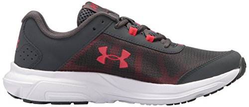 Under Armour Kids' Grade School Rave 2 Sneaker,Stealth Gray (100)/White,3.5 M US by Under Armour (Image #7)