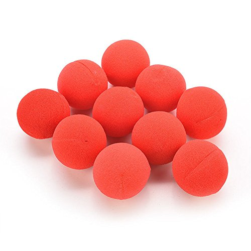 Appropriative Costume (10 PCS Red Novelty Sponge Foam Clown Nose Circus for Party Halloween Costume Xmas Wedding)