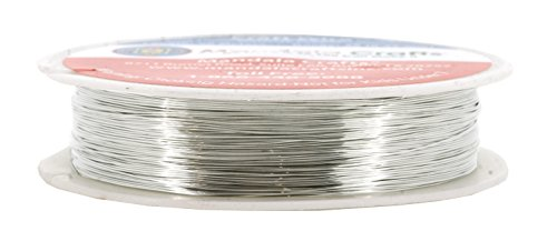 Mandala Crafts 18 20 22 24 26 28 Gauge Thick Solid Copper Wire for Beading Wrapping Jewelry Making (28 Gauge 50M, Silver)