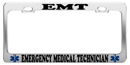 License Emt Plates (EMT EMERGENCY MEDICAL TECH PROFESSION LICENSE PLATE FRAME CAR ACCESSORIES)